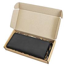 Портмоне (купюрник) кожаное черное ручной работы HELFORD Брайтон blk (1133191774), фото 2