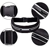 Спортивный пояс для телефона GO Belt 2Life со светоотражающим элементом Black (n-494), фото 3