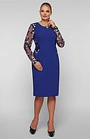 Платье большого размера VP29 электрик, фото 1