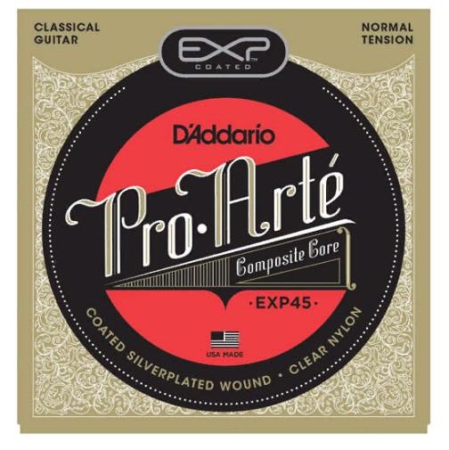 Струны для классической гитары D`ADDARIO EXP45 EXP CLASSICAL NORMAL TENSION нормальное натяжение