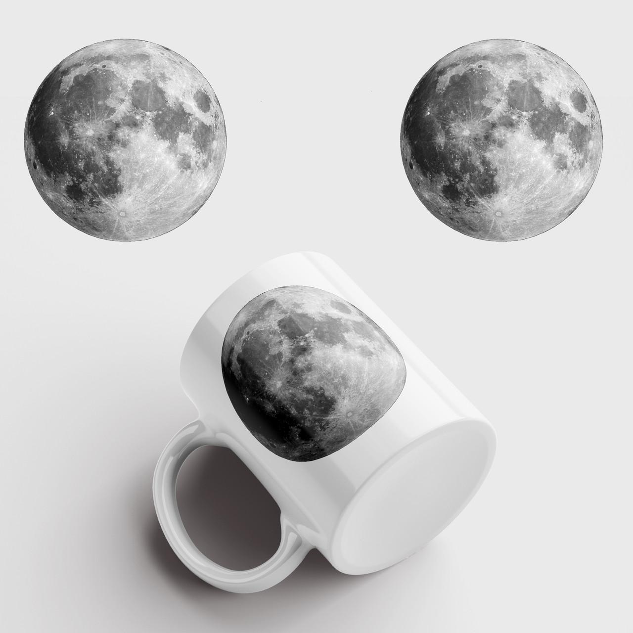 Кружка с принтом Луна. Moon. Чашка с фото