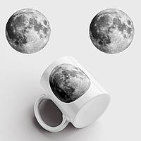Кружка с принтом Луна. Moon. Чашка с фото, фото 1