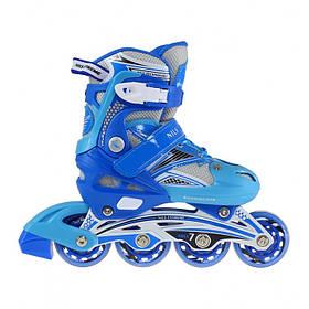 Роликовые коньки Nils Extreme NA0326A Size 38-41 Blue SKL41-227259