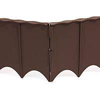 Палисадник декоративный Prosperplast GARDEN FENCE, 5,9м коричневый (5905197340081)