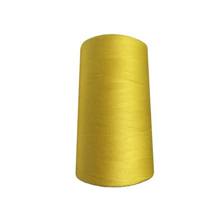 Нитки швейные 50/2 цв.S-504 желтый  яркий (боб 5000 ярдов) NITEX
