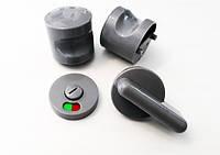 Пластиковая фурнитура для сантехнических перегородок (защелка и ручка пластиковая дверная)