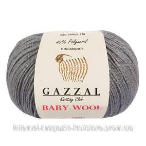 Пряжа Gazzal Baby Wool Серый