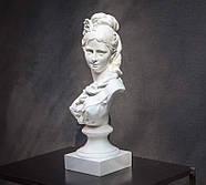 Гіпсовий бюст дівчини (білий), фото 5