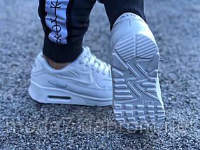 Кроссовки женские белые Nike Air Max 90 нат. кожа реплика, фото 3