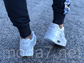 Кроссовки женские белые Nike Air Max 90 нат. кожа реплика, фото 2