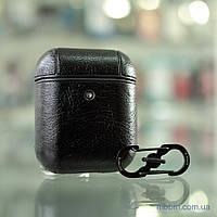 Кожаный футляр Leather series Apple AirPods Black