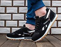 Мужские кроссовки Reebok Classic Black, черные. Код товара : KS 144