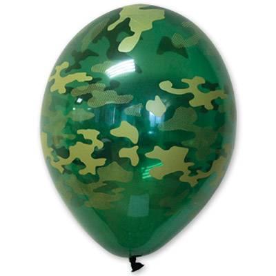 """Латексна кулька з малюнком камуфляж асорті 14"""" BelBal"""
