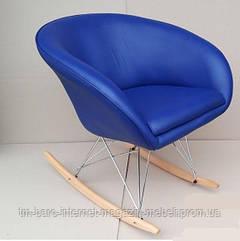 Крісло-гойдалка Мурат R, синій кожзам
