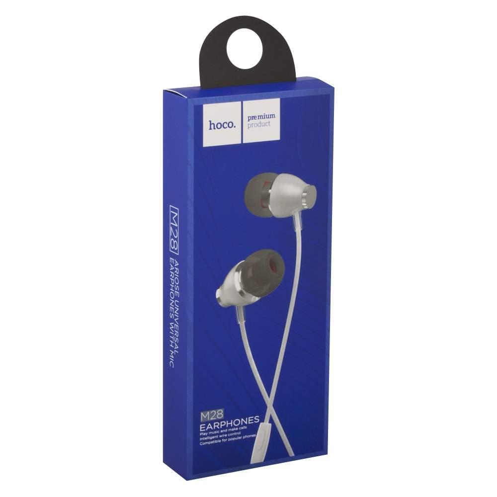 Наушники Hoco M28, Ariose universal earphones, with microphone, white, Ц-000056899