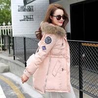 Стильная куртка коттон с мехом  5 цвета , фото 1