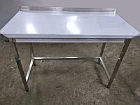 Стол производственный из нержавеющей стали с бортом/без борта. 600х600х850 мм.