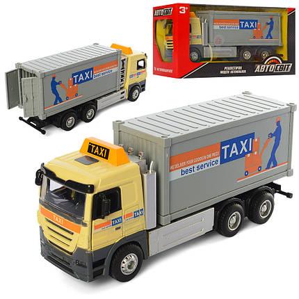 "Машина Авто Мир ""Taxi"", металл-пластик, инерционная, звук, свет, AS-2407, фото 2"