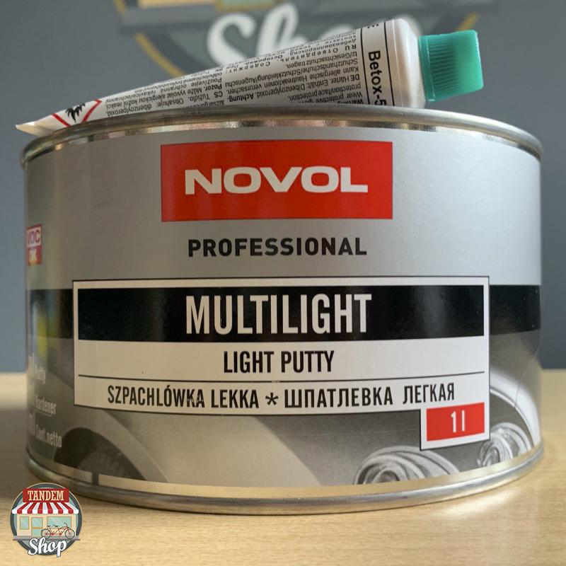 Шпатлевка универсальная облегченная Novol Multilight, 1 л