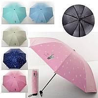 Зонтик механический, трость, 5 цветов, MK4075
