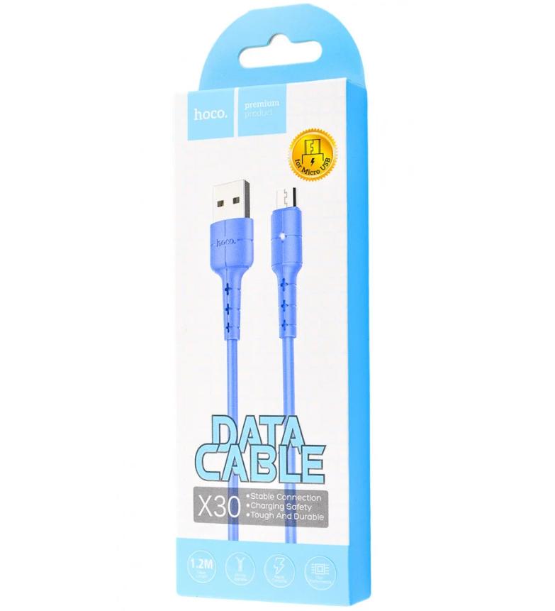 Кабель USB HOCO, X30m, Blue, Black, USBкабельHOCOX30m