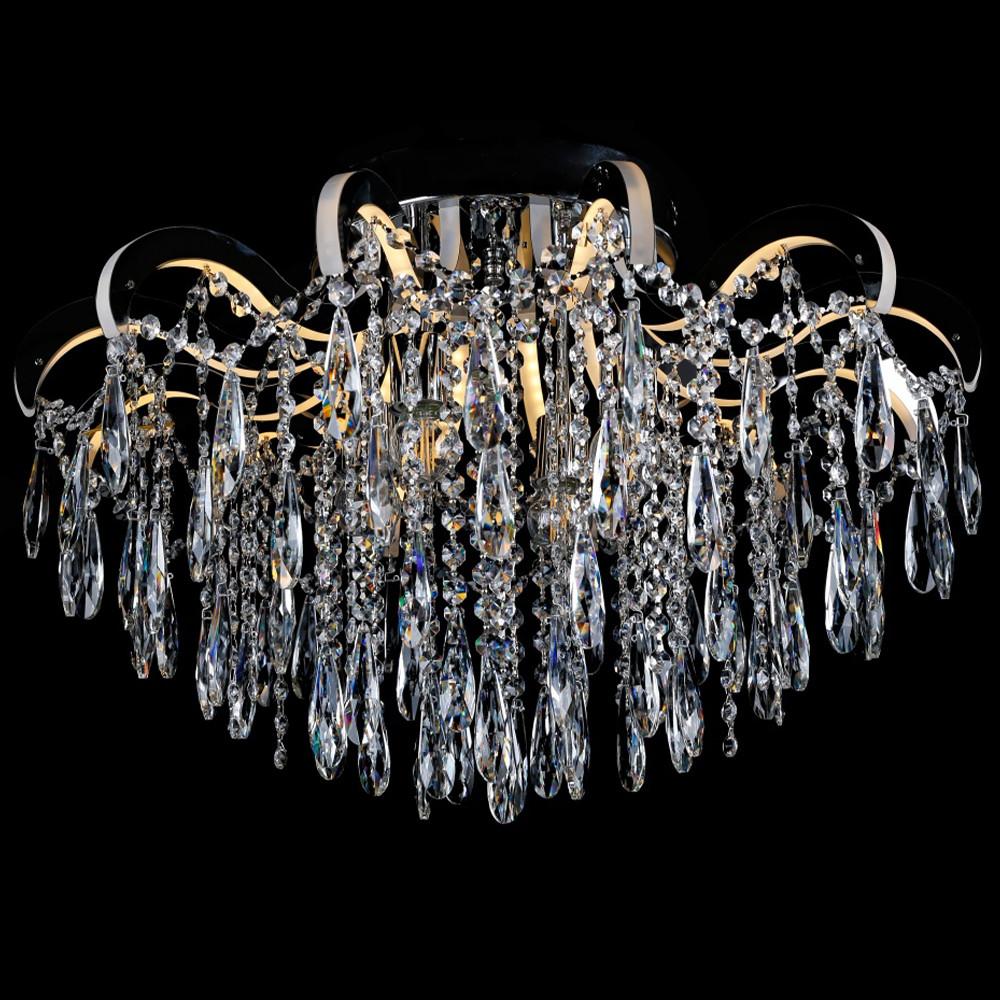 Хрустальная люстра СветМира на 4 лампочки со встроенной LED подсветкой рожков VL-2736/4+12