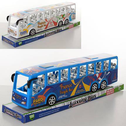Автобус інерційний, 2 кольори, WJ950-54, фото 2
