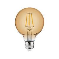 Филаментная лампа Horoz Electric Rustic 4W E27 2200K G95 (Шар)