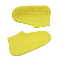 Силиконовые водонепроницаемые бахилы Чехлы на обувь WSS1 L 42-45р Yellow SKL25-223352, фото 3