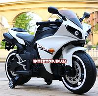 Детский двухколесный электро-мотоцикл на аккумуляторе Bambi для детей 3-6 лет Yamaha M 4069L-1 белый