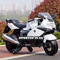 Детский двухколесный электрический мотоцикл-электромобиль BMW Bambi M 3636EL-1 белый