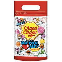 Карамель на палочке Chupa Chups Do you Love me 300 г.