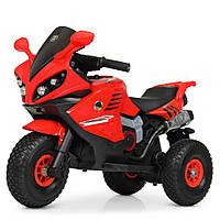 Детский мотоцикл на надувных колесах M 4216AL-3 красный, фото 1