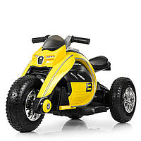 Детский мотоцикл Bambi желтый, фото 1