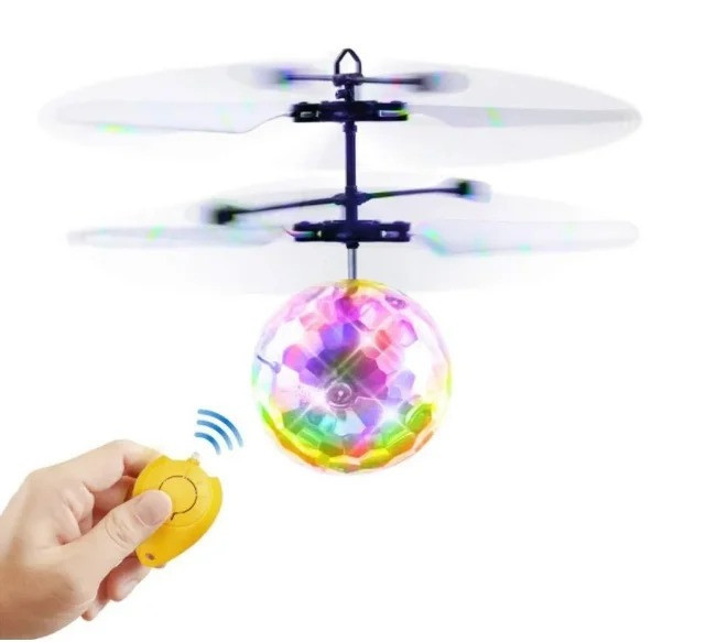 Летающий от руки светящийся шар с пультом, Flying Ball, игрушка летящий шарик вертолет со светом