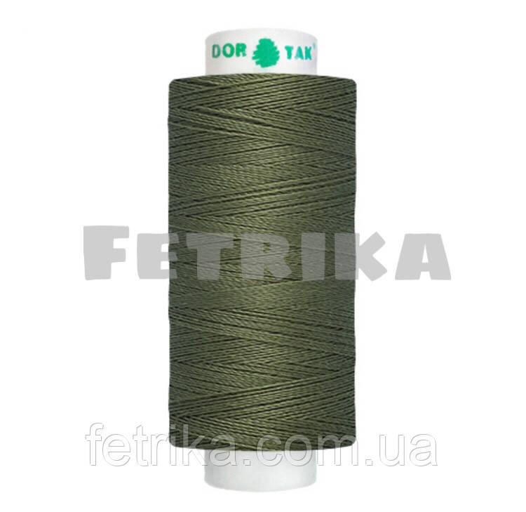 Нитки швейные Dor Tak 40/2, Болотно-зеленый  № 493, 400 ярдов