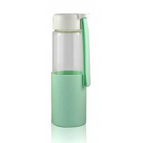 Стеклянная бутылочка для воды с силиконом Muse зеленая SKL11-203674