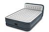 Надувной велюровый матрас-кровать Intex 64448 со встроенным насосом