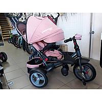 Детский трехколесный велосипед c поворотным сиденьем T 400 NEO ECO AIRперсиковый