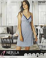 """Молодіжна нічна сорочка """"NEBULA"""" на тонких бретельках. Віскоза. Туреччина., фото 1"""