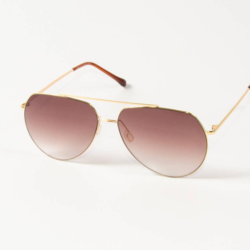 Оптом солнцезащитные очки авиаторы  (арт. B80-311/1) коричневые, фото 2
