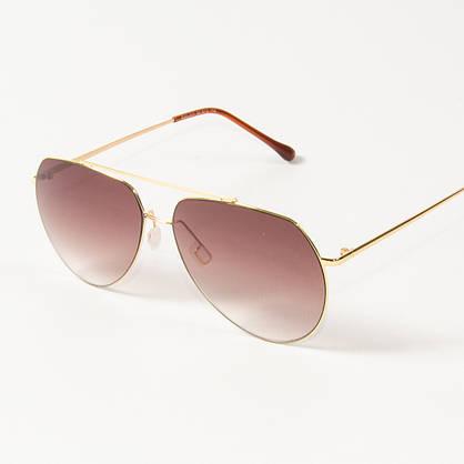 Оптом солнцезащитные очки авиаторы  (арт. B80-311/1) коричневые, фото 3