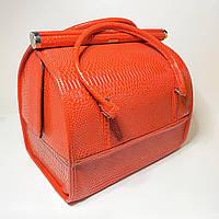 Сумка саквояж для мастера чемодан органайзер Бьюти Кейс, оранжевый