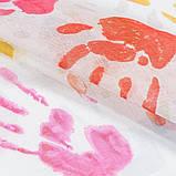Гардина Кисея с принтом в детсую MacroHorizon Ладошки 4 (MG-MG-TL-162484) 275*400 см, фото 2