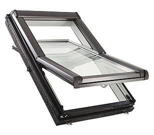 Мансардні дахові вікна ПВХ Roto Designo WDF R45 K WD AL Мансардные окна