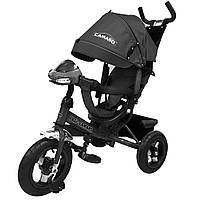 Детский трехколесный велосипед-коляска CAMARO T 362 серый