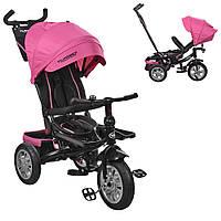 Велосипед-коляска детский трехколесный с поворотным сиденьем Turbo Trike   M 3646A-S11 малиновый, фото 1