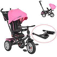 Велосипед-коляска детский трехколесный с поворотным сиденьем Turbo Trike  M 3646A-15 розовый, фото 1