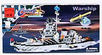 """Конструктор brick 112/208885 военный корабль """"эсминец"""" (970 деталей) кк"""