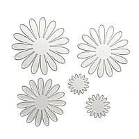 """Ножи для вырубки """"Цветок Георгин Хризантема"""" набор из 5 штук для фоамирана, фетра и бумаги для скрапбукинга, фото 1"""
